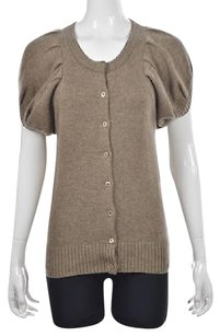 Tse Say Womens Beige Cardigan Sweater