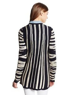 Minnie Rose Womens Zebra Sweater