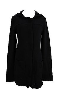 Other Yes London 93053 Black Cardigan Solid Womens Sweater