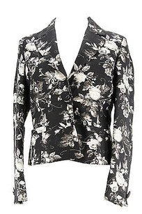 Carella Floral Womens Suit Black Acetate Blend -