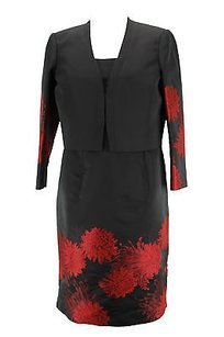 Carlo Pignatelli Floral Womens Suit Black Polyester -