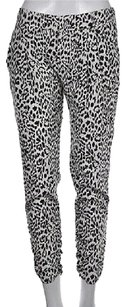 Other Intermix Womens White Casual 0 Animal Print Silk Pants