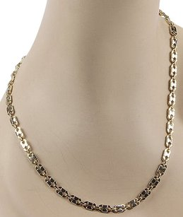 Bassani Italy 14k Two Tone Gold Fancy Chain Link Necklace - 28.5 Long