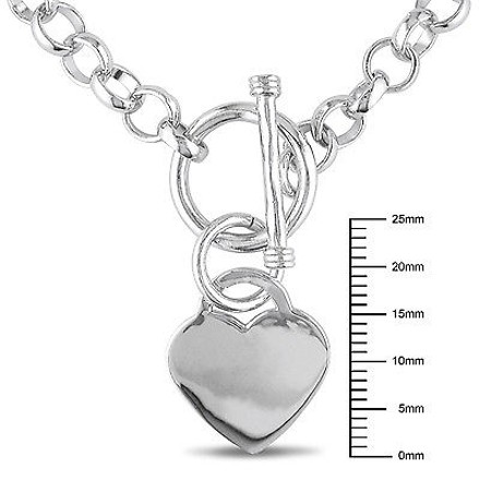 Other Sterling Silver 18 Necklace W Toggle Clasp Love Heart Charm