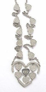Chopard 18kt Amore Hearts Diamond Necklace Wg 1.23ct