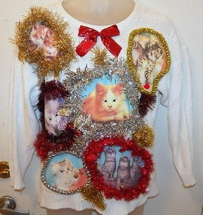 Crazy Kitten Overdose Ugly Sweater