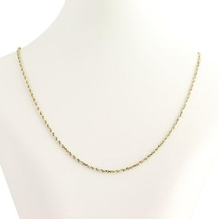 Other Classic Rope Chain Necklace 21 12 - 10k Yellow Gold Womens Fine Estate