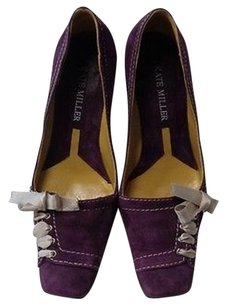 Kate Miller Purple And Gray Pumps
