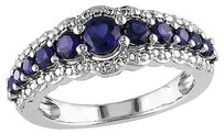 Other 1 16 Ct Tgw Blue Sapphire Fashion Ring In Sterling Silver