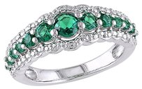 34 Ct Tgw Emerald Fashion Ring In Sterling Silver