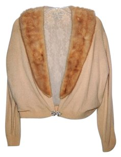 Collectible Real Fur Cropped Cardigan