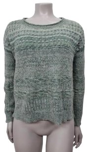 Other Sparrow Light Green White Open Knit Long Sleeves Anthropologie Sweater