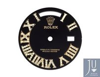 Custom Pave Set Diamond Black Dial For Rolex Day Date 1 41mm Watch 0.75 Ct