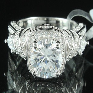 Other Custom Solitaire Style Women Engagement Cocktail Ring Simulated Diamond Ring