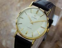 Other Cyma Swiss Made Vintage 1950s Manual Gold Plated Collectible Mens Watch H11