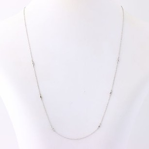 Other Diamond-accented Twisted Cable Chain Necklace 18 - 14k White Gold .06ctw