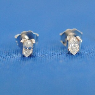 Diamond Studs 0.31 Ct Channel Setting Marquise Cut With Push Back Lock