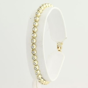 Diamond Tennis Bracelet 12 - 14k Yellow Gold April Birthstone 2.00ctw