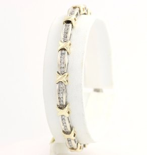 Diamond Tennis Bracelet 7 - 10k White Yellow Gold Polished Genuine 1.00ctw