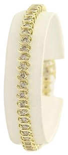Other Diamond Tennis Bracelet 7 - 10k Yellow Gold Light Champagne Brown Fine 4.00ctw