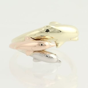 Other Dolphin Ring - 10k Yellow White Rose Gold Womens