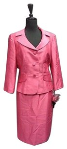 Other Tahari Arthur S. Levine Luxe Pink Skirt Suit Polyester Blend Sma10464