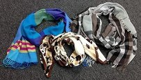 Other Ellen Tracy Nordstrom Lord And Taylor Lot Of Silk Wool Blend Scarves B3001