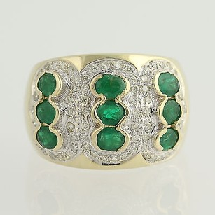 Other Emerald Diamond Ring - 14k Yellow White Gold May Birthstone 3.76ctw