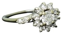Estate 18k White Gold 0.60ct Tcw Vs Si Diamond Engagement Ring R254