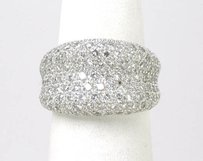 Estate 18k White Gold Diamond Wide Band