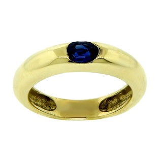 Other Estate 18k Yellow Gold And Sapphire Stone Ring