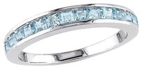 Other Sterling Silver 1 Ct Tgw Blue Topaz - Sky Eternity Ring