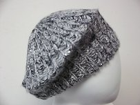Eungenia Kim Genie Lucy Sweater Knit Hat Gray Black Sequins Beret