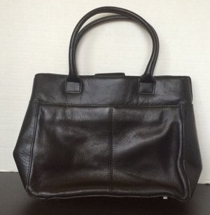 Coletta Soft Leather Black Clutch