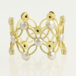 Expandable Ring - 18k Yellow White Gold Fully Adjustable Textured