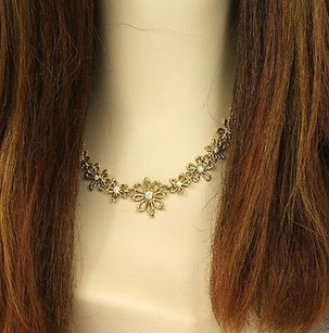 Other Exquisite 18k Yellow Gold 1.80 Cts. Stylized Floral Link Ladies Chain Necklace