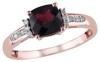 10k Pink Gold Diamond And 1 13 Ct Tgw Garnet Fashion Ring Gh I2i3