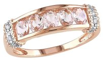 10k Pink Gold Diamond And 34 Ct Tgw Morganite Fashion Ring Gh I2-i3
