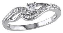 Other 10k White Gold 17 Ct Diamond Tw Fashion Crossover Ring Gh I2-i3