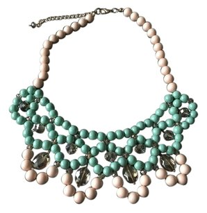 Fashion Statement Necklace Mint Beige