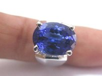 Fine 18kt Gem Tanzanite Diamond Anniversary Ring 8.90ct