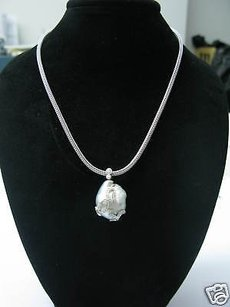 Fine 18kt Pearl Diamond Designer Necklace 1.00ct