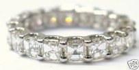 Fine Asscher Cut Diamond Eternity Ring 3.80ct Wg Sz5