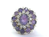 Other Fine Gem Amethyst Diamond Yellow Gold Big Jewelry Ring 11.30ct