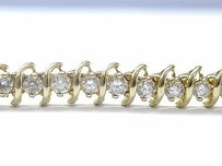 Other Fine Round Cut Diamond Tennis Bracelet 14kt 5.26ct