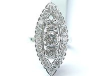 Other Fine Vintage Round Cut Diamond Three Stone White Gold Jewelry Ring 2.22ct 14kt