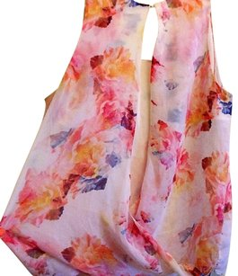 Other Floral Open Back Sleeveless Top