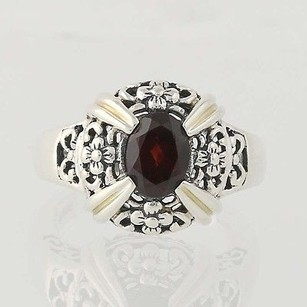 Garnet Ring - Sterling Silver January Birthstone Solitaire 1.40ct