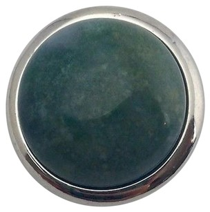 Ginger Snaps Moss Quartz B Green Gemstone Sn29-05 Silver Plated