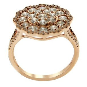 Other Glk 14k Rose Gold 1.95ct Diamond Split Shank Flower Ring